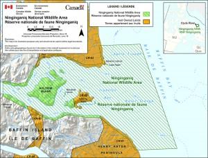Letter Size - Ninginganiq NWA in Nunavut